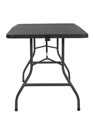 Ordinaire Cosco Deluxe 6 Foot X 30 Inch Fold In Half Blow Molded Folding Table, Black  (14678BLK1)