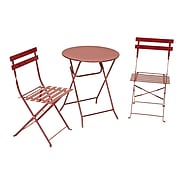Cosco 3-Piece Steel Folding Bistro Set, Red (87620RED1)