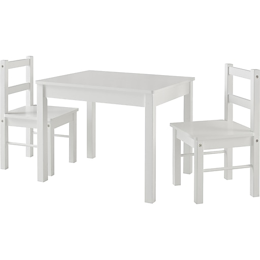 Ameriwood Home Hazel Kid's Table and Chairs Set, White (5827296PCOM)