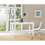 """Ameriwood Home Large Parsons 48""""W Desk with 2 Drawers, White (9889396COM)"""