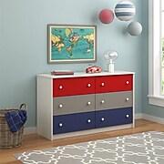 Ameriwood Home Kaleidoscope 6 Drawer Dresser, Classic (5889500PCOM)