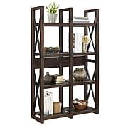 Ameriwood Home Wildwood Wood Veneer Bookcase/Room Divider, Espresso