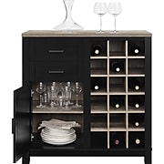 Ameriwood Home Carver Bar Cabinet, Black (5277296PCOM)
