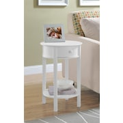Ameriwood Home Tipton Round Accent Table, White (5055096PCOM)