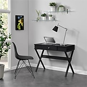 "Ameriwood Home Paxton 39""W Campaign Desk, Black (9258396COM)"