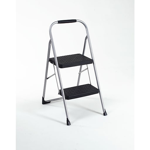 Cosco Two Step Big Step Folding Step Stool with Rubber Hand Grip (11308PBL1E)