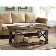 Ameriwood Home Wildwood Wood Veneer Coffee Table, Rustic Gray (5056096PCOM)