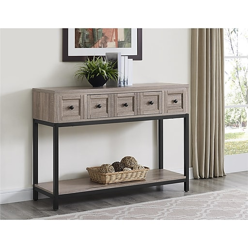 Ameriwood Home Barrett Console Table, Distressed Gray Oak (5035096COM)