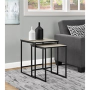 Ameriwood Home Stewart Nesting Tables, Distressed Gray Oak (5027196COM)