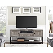 """Ameriwood Home Barrett Multipurpose TV Console, Distressed Gray Oak, For TVs up to 60"""" (1793096COM)"""