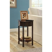 Ameriwood Home Tipton Round Accent Table, Espresso (5055196PCOM)