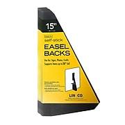 "Lineco Single Wing Self-Stick Easel Backs, Size 15"", Black, 25 Per Pack (328-3335)"