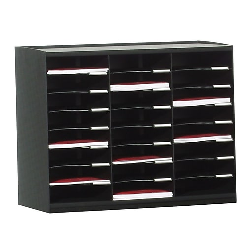Paperflow Master Literature Organizer, 24 Compartment, Black (802.01)