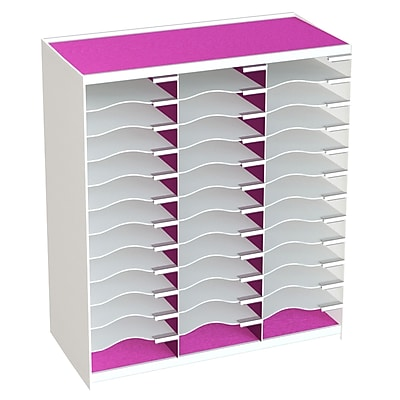 Paperflow Master Literature Organizer, 36 Compartment, White/Pink (803.13.17)