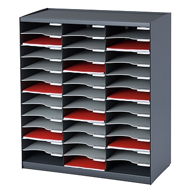 Paperflow Master Literature Organizer, 36 Compartment, Charcoal/Grey (803.11)