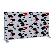 Paperflow easyScreen Horizontal Divider Screen, Black and Red Bubbles (31336)