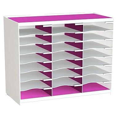 Paperflow Master Literature Organizer, 24 Compartment, White/Pink (802.13.17)