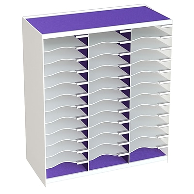 Paperflow Master Literature Organizer, 36 Compartment, White/Purple (803.13.19)