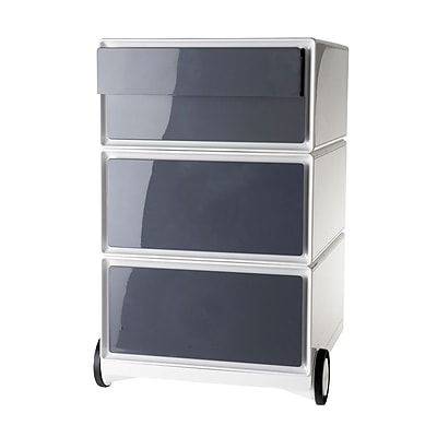Paperflow easyBox Four Drawer Mobile Pedestal, White and Antracite (EBGHPH.11)