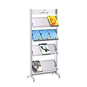 """Paperflow Single Sided """"L"""" Literature Display, Acrylic Shelves (12.A4TT.35)"""