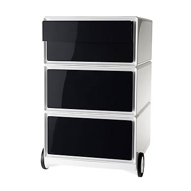 Paperflow easyBox Four Drawer Mobile Pedestal, White and Black (EBGHPH.01)