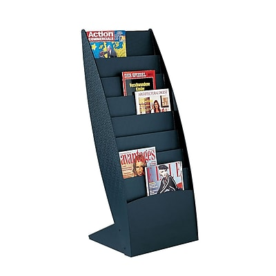 Paperflow Ovo Curved Floor Literature Display, Black (288.01)