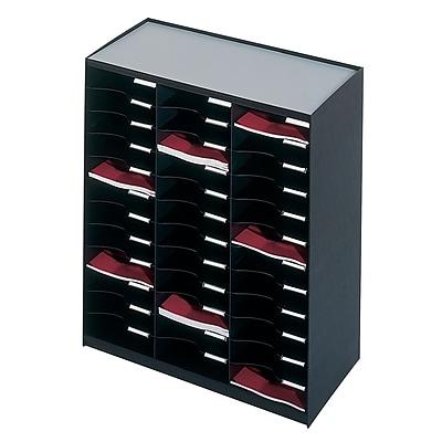 Paperflow Master Literature Organizer, 36 Compartment, Black (803.01)