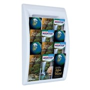Paperflow Quick Fit Systems Wall Mounted Literature Display, Four Pockets, 1/3 Letter x3, White (4060US.13)