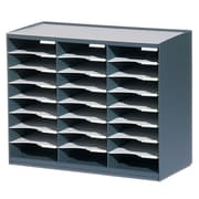 Paperflow Master Literature Organizer, 24 Compartment, Charcoal/Grey (802.11)