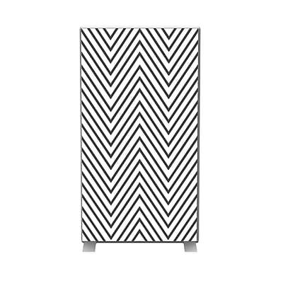 Paperflow easyScreen Vertical Divider Screen, Black zigzag (ES0009)