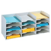"Paperflow Polystyrene Stackable Horizontal Organizer, 26.5"" W, Grey (531.02)"