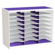 Paperflow Master Literature Organizer, 24 Compartment, White/Purple (802.13.19)