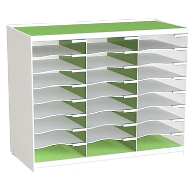 Paperflow Master Literature Organizer, 24 Compartment, White/Green (802.13.08)