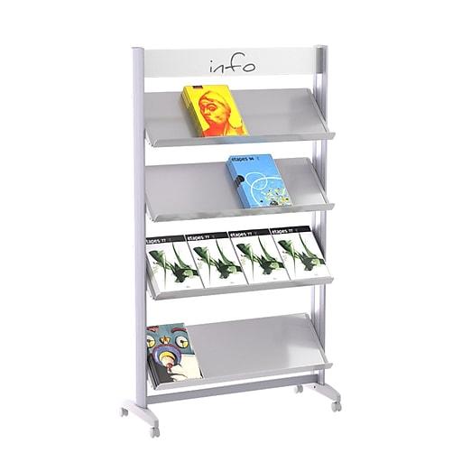 "Paperflow Single Sided ""XL"" Literature Display, Metal Shelves (16.A4TM.35)"