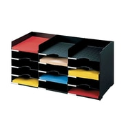 "Paperflow Polystyrene Stackable Horizontal Organizer, 26.5"" W, Black (531.01)"