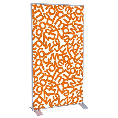 Paperflow easyScreen Vertical Divider Screen, Orange Alphabet (ES0002)