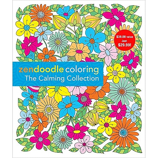 St Martin S Books Zendoodle Coloring Calming Collection Staples
