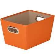 "Small Decorative Storage Bin 13""X9.8""X7.6""-Orange"