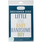 Carta Bella Dies-Rock-A-Bye; Handsome Little Boy