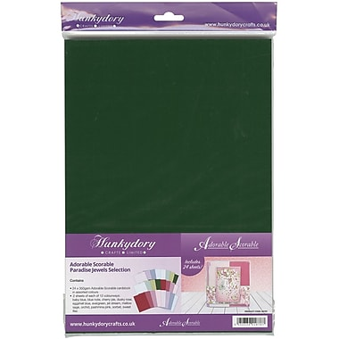 Hunkydory Adorable Scorable A4 Cardstock 24/Pkg-Paradise Jewels