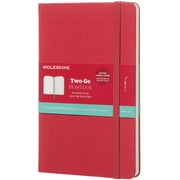 Moleskine Two-Go Ruled Notebook-Raspberry Red