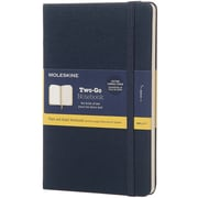 Moleskine Two-Go Ruled Notebook-Saxe Blue
