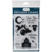 """Carta Bella Stamp 4""""X6""""-Rock-A-Bye; To The Moon & Back"""