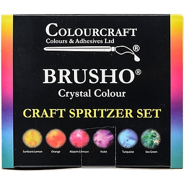 Brusho Crystal Colours Craft Spritzer Set 6/Pkg-