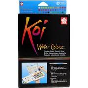 Koi Watercolor Pocket Field Sketch Box - 48 Colors-Assorted Colors