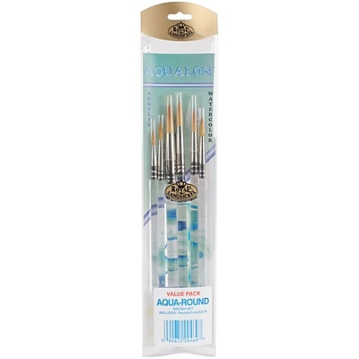 Royal Aqualon Brush Set-Round 6/Pkg 23979727