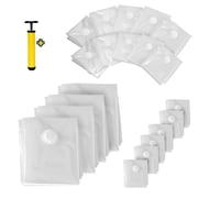 Serene Life Assorted Sizes Vacuum Storage Bags Transparent - 20 Bags Bundle (SLVBST20)