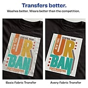 "Avery Heat Transfer Paper for Dark Fabrics, 8.5"" x 11"", Inkjet, 5  Transfers/Pack (3279)"