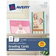 Avery Half-Fold Anytime Cards, 30/Box (3378)