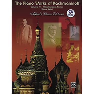 Alfred The Piano Works of Rachmaninoff- Volume IV- Miscellaneous Pieces - Music Book(ALFRD42562)